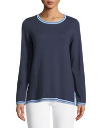 Sail To Sable - Colorblock Pullover Cotton Sweater - Lyst