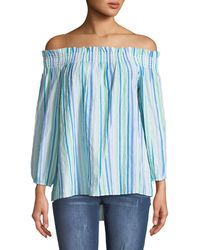 27dc5e0d2285b Lyst - Cece By Cynthia Steffe Graceful Floral Off The Shoulder Top ...