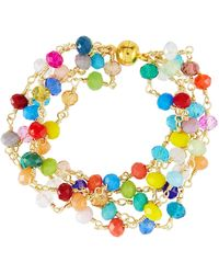 Panacea - Multicolor Crystal Bracelet - Lyst