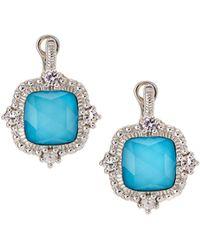Judith Ripka - La Petite Imitation Turquoise Doublet Drop Earrings - Lyst
