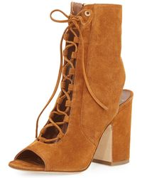 Laurence Dacade - Nelly Suede Lace-up Bootie - Lyst