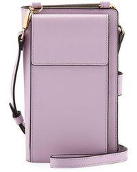 Neiman Marcus - Saffiano Phone Crossbody Bag - Lyst