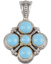 Konstantino - Turquoise Clover Cross Pendant Enhancer - Lyst