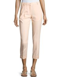 Carven | Cropped Crepe Pants | Lyst