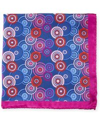 Bugatchi - Multicolor Circle Silk Pocket Square - Lyst