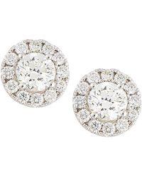 Neiman Marcus - 18k White Gold Diamond Stud Earrings 1.5tcw - Lyst