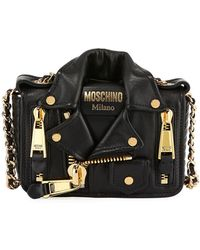 Rebecca Minkoff · Moschino - Leather Moto Jacket Shoulder Bag - Lyst 6eb871709abca