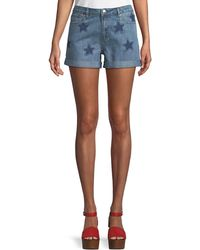 Velvet Heart - Paris Star-patch Denim Shorts - Lyst