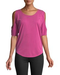 Casual Couture - Scoop-neck Cold Shoulder Tee - Lyst
