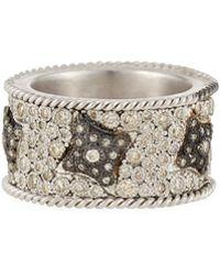 Armenta - New World Midnight Crivelli Diamond Pave Wide Ring - Lyst