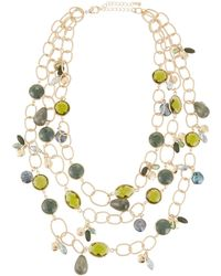 Lydell NYC - Multi-strand Stone Necklace - Lyst