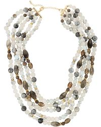 Lydell NYC - Multi-row Semiprecious Necklace - Lyst