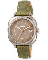 Shinola - 36mm Women's Gomelsky Watch W/ Leather Strap - Lyst