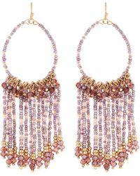 Lydell NYC - Seed Bead Tassel Drop Earrings - Lyst