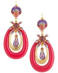Jose & Maria Barrera - Lucite Oval Drop Earrings - Lyst