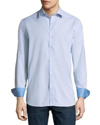 Bugatchi - Checkered Classic-fit Sport Shirt - Lyst
