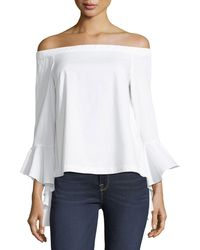 1.STATE - Off-the-shoulder Cascading-sleeve Blouse - Lyst