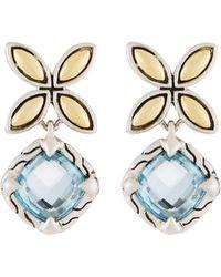 John Hardy - Kawung Blue Topaz Drop Earrings - Lyst