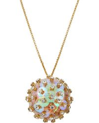 Lele Sadoughi - Crystal & Sequin Poppy Pendant Necklace - Lyst