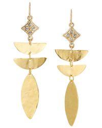 Devon Leigh - Abstract Diamond-illusion Earrings - Lyst