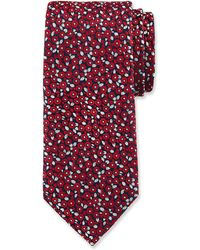 Duchamp - Tiny Floral Pattern Silk Tie - Lyst
