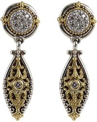 Konstantino - Asteri Pave White Diamond Dangle Earrings - Lyst