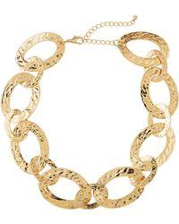 Panacea - Textured Link Necklace - Lyst