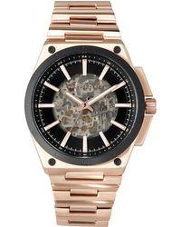 MICHAEL Michael Kors - Wilder Rose Golden Stainless Steel Automatic Skeleton Watch - Lyst