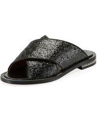5a4fbec85 Versace Men s Greek Key Crisscross Sandal in Black for Men - Lyst