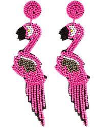 Kenneth Jay Lane - Flamingo Drop Earrings - Lyst