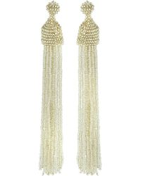 Kenneth Jay Lane | Seed Bead Tassel Earrings | Lyst