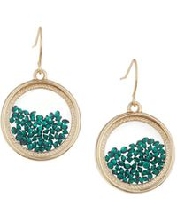 Lydell NYC - Emerald Round Shaker Earrings - Lyst