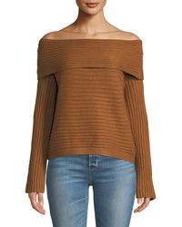 Line & Dot - Benigna Off Shoulder Sweater - Lyst