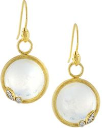 Jude Frances - 18k Sonoma Round Drop Earrings - Lyst
