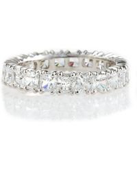 Fantasia by Deserio - Cubic Zirconia Eternity Band Ring - Lyst