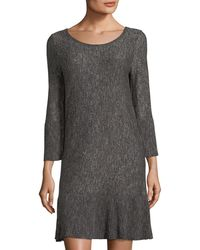 Max Studio - Marled Flare-sleeve Sweater Dress - Lyst