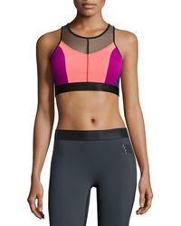 9d43242418 Monreal London - Hi-energy Colorblock Sports Bra - Lyst