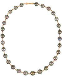 Belpearl - 14k Tahitian Pearl Necklace - Lyst