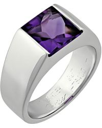 Cartier - Estate Tank De 18k Amethyst Ring - Lyst