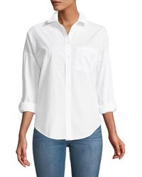 Dex - Embroidered-back Button-front Shirt - Lyst