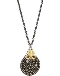 Armenta - Old World Diamond & Sapphire Pendant Necklace W/ 18k Gold - Lyst