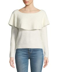 Dex - Draped Off-the-shoulder Knit Sweater - Lyst
