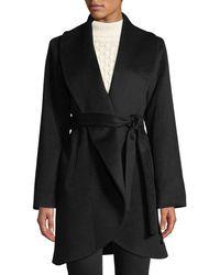 Fleurette - Curve-front Wool-cashmere Clutch Coat - Lyst