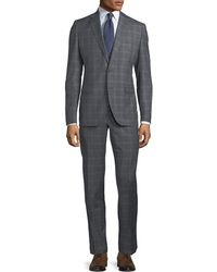 Neiman Marcus - Two-piece Windowpane Wool Suit - Lyst