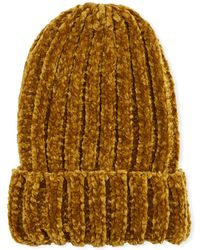 Neiman Marcus - Ribbed Knit Beanie - Lyst