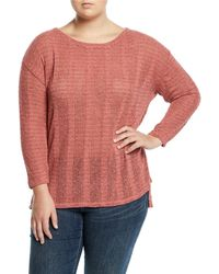 Vince Camuto Signature - Drop-shoulder Textured-knit Sweater - Lyst