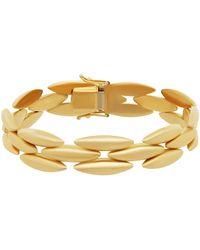 Cartier - 18k Yellow Gold 3-row Bracelet - Lyst