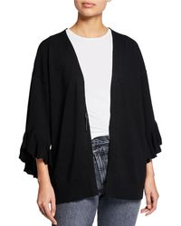 Max Studio - Tiered Bell-sleeve Open Cardigan - Lyst