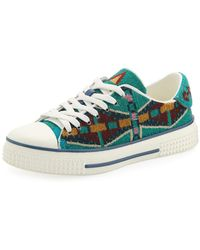 Valentino - Southwestern Canvas Sneakers - Lyst