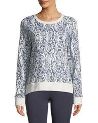 Marc New York - French Terry Printed Sweatshirt - Lyst